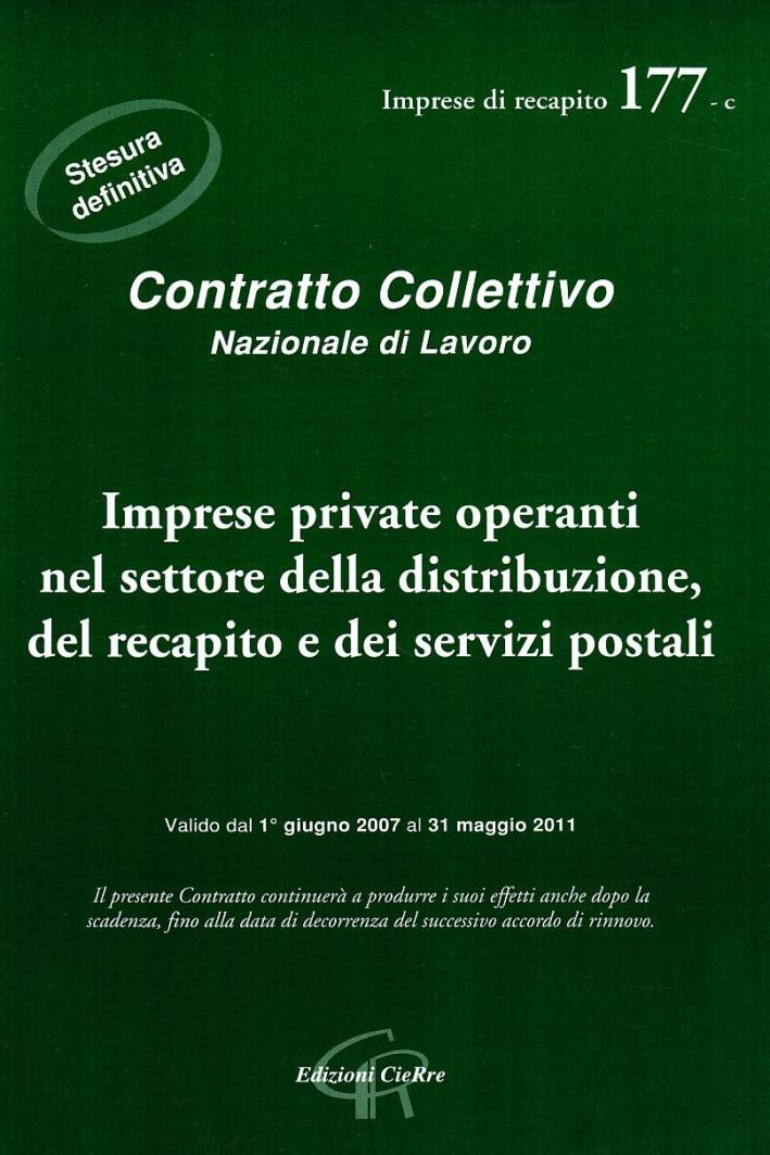 CCNL imprese private operanti nel settore del recapito e dei servizi postali.