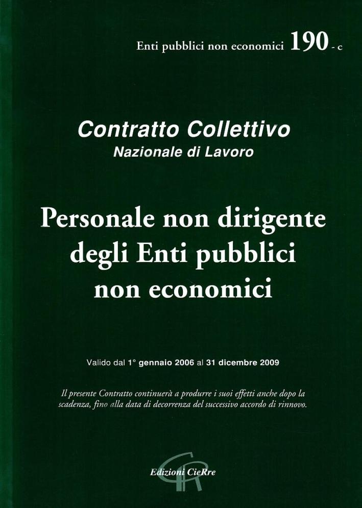 CCNL enti pubblici non economici.