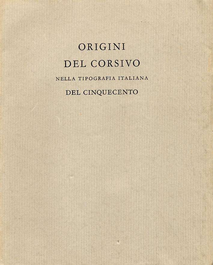 Origini del corsivo nella tipografia italiana del Cinquecento