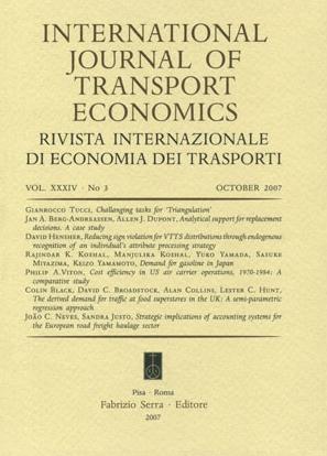 International Journal of Transport Economics. Rivista Internazionale di Economia dei Trasporti. 35. 2008. 1