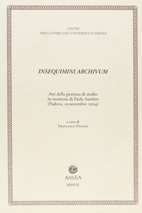 Insequimini Archivum.