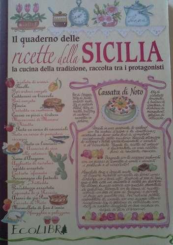 Il quaderno delle ricette della Sicilia.
