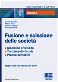 Fusione e scissione di società