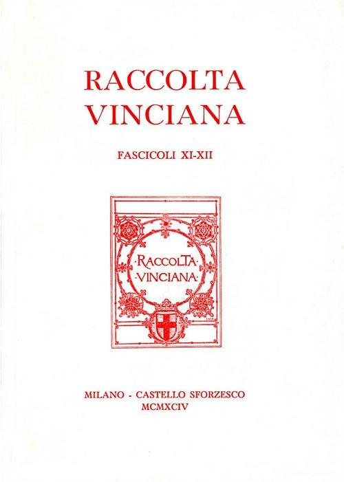 Raccolta Vinciana (1994) voll. 11-12