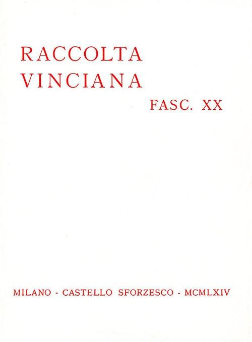 Raccolta Vinciana (1964). Vol. 20.