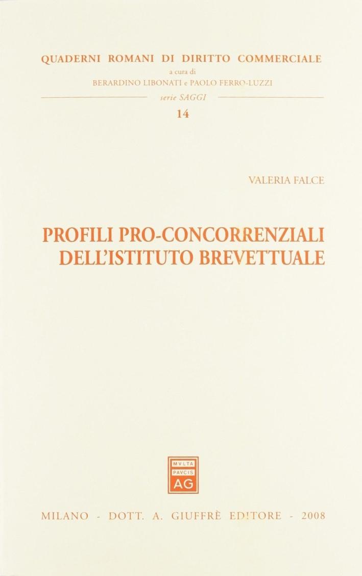 Profili pro-concorrenziali dell'istituto brevettuale.