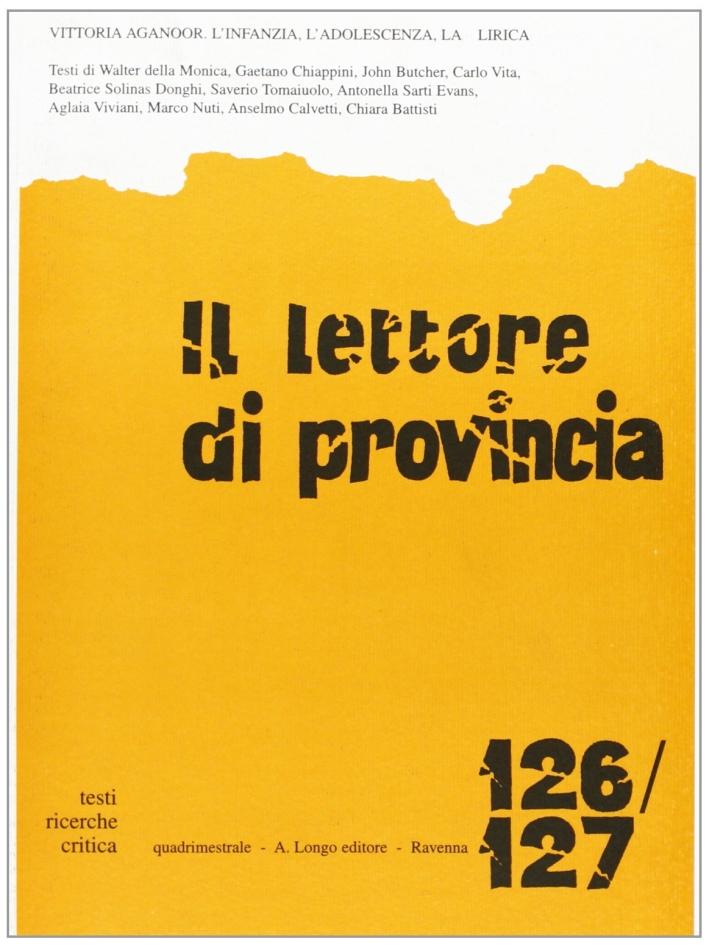 Il lettore di provincia vol. 126-127.