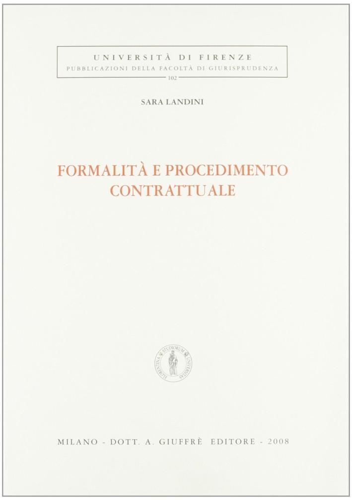 Formalità e procedimento contrattuale