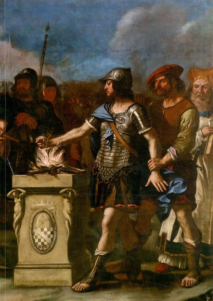 Guercino e bottega. Muzio Scevola davanti a Lars Porsenna.