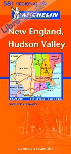 New England, Hudson Valley 1:500.000.