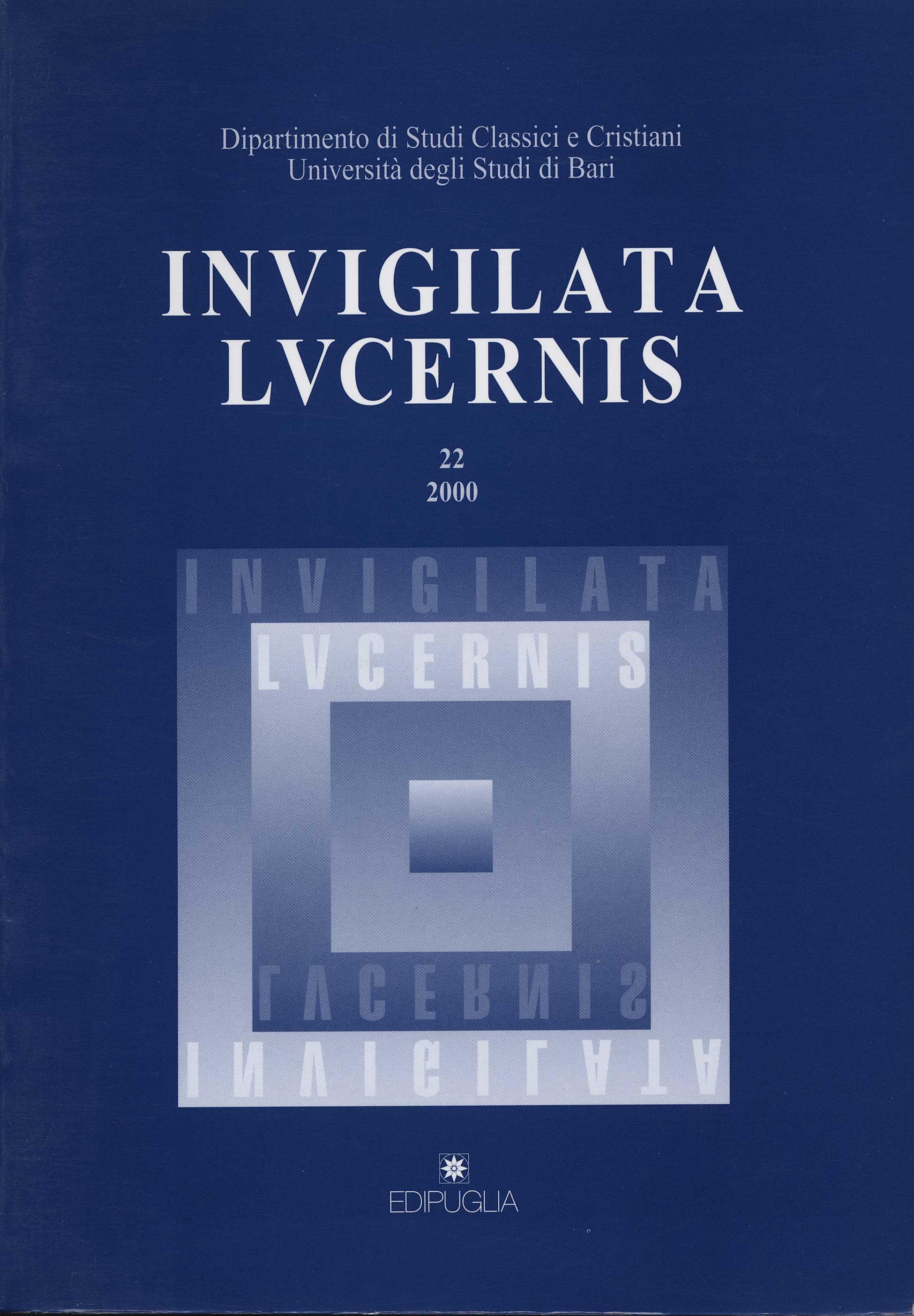 Invigilata lucernis. Vol. 22.