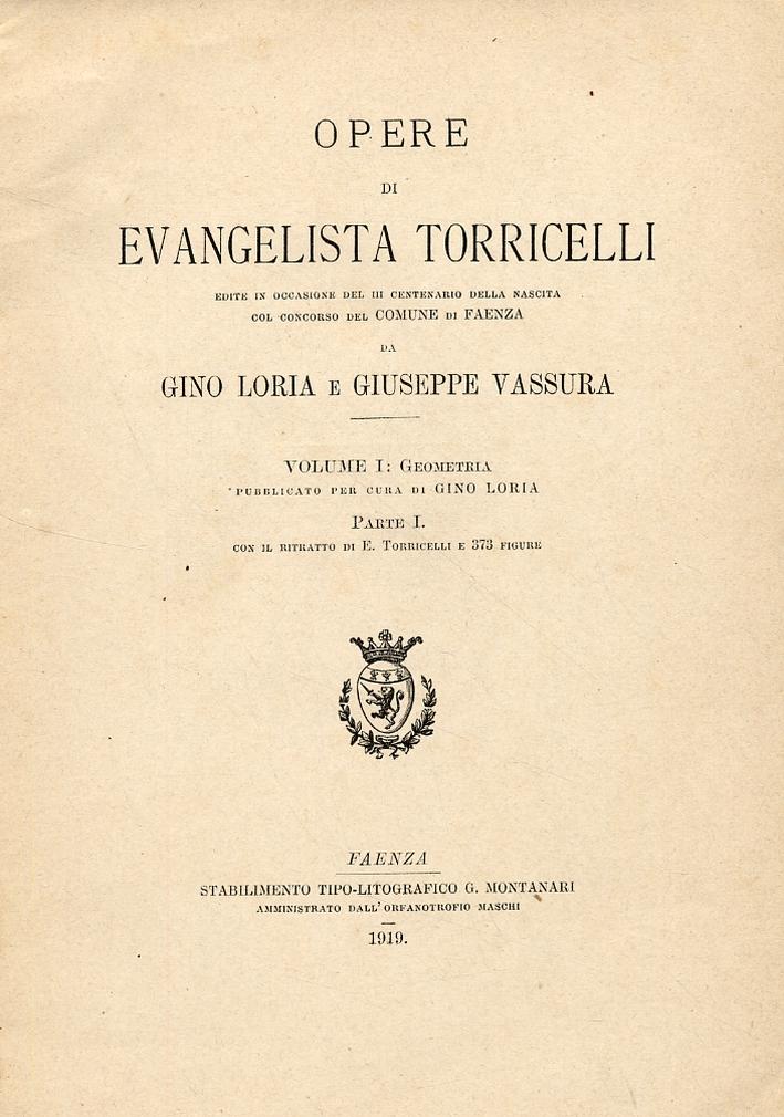Opere di Evangelista Torricelli.