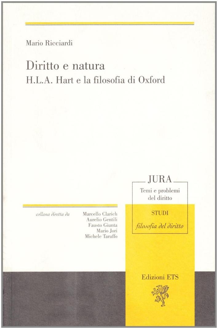 Diritto e natura. H.L.A. Hart e la filosofia di Oxford