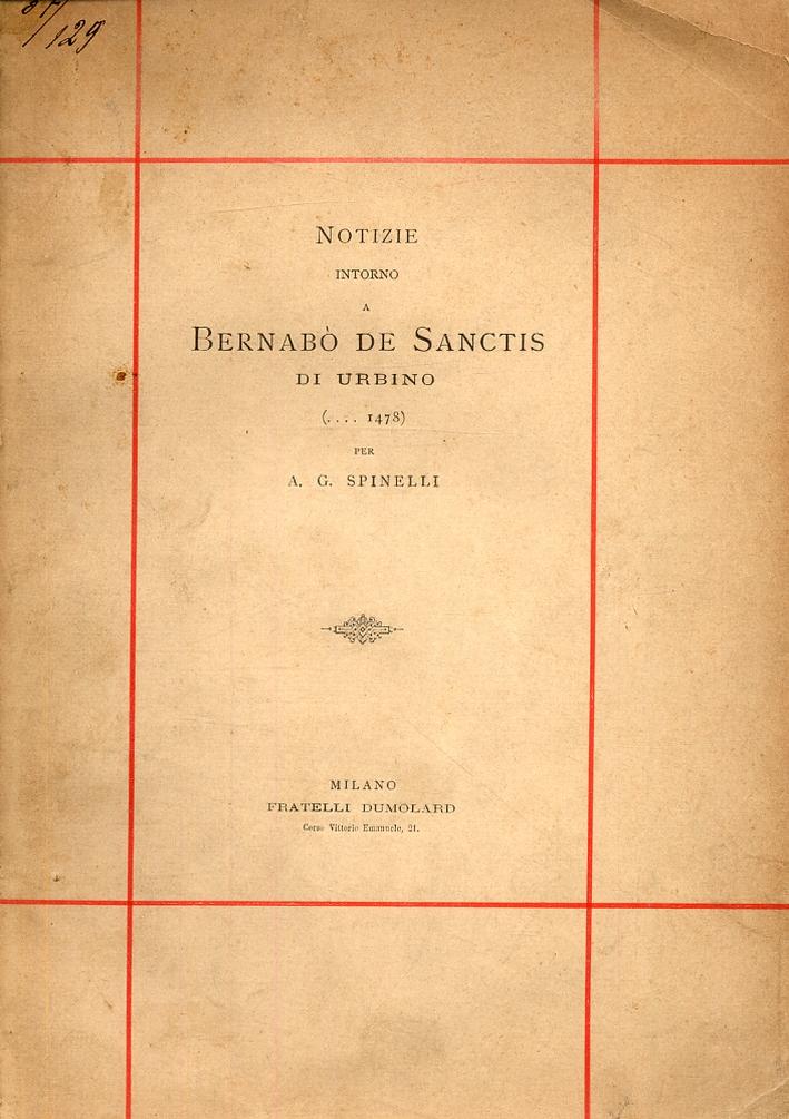 Notizie intorno a Berabò de Sanctis di Urbino