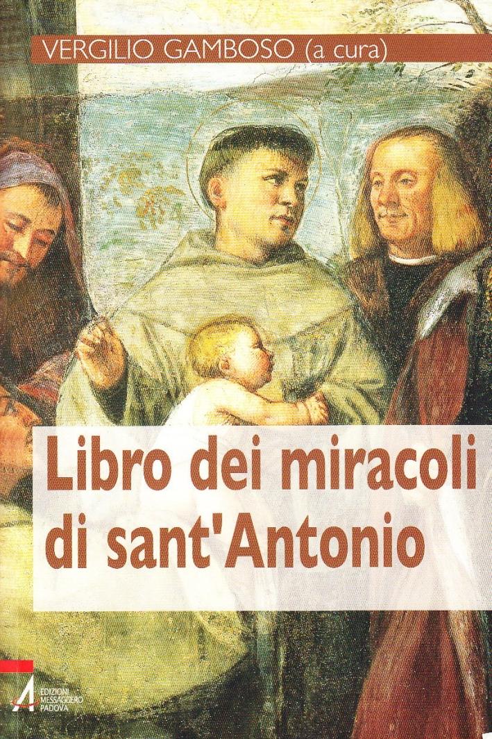 Libro dei miracoli di sant'Antonio.