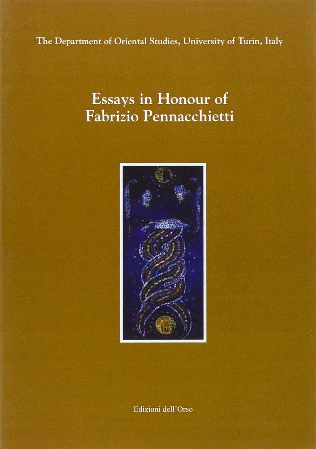 Essays in honour of Fabrizio Pennacchietti.