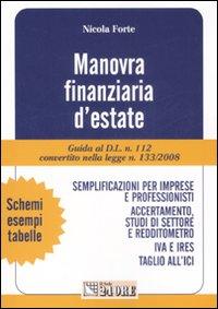 Manovra finanziaria d'estate