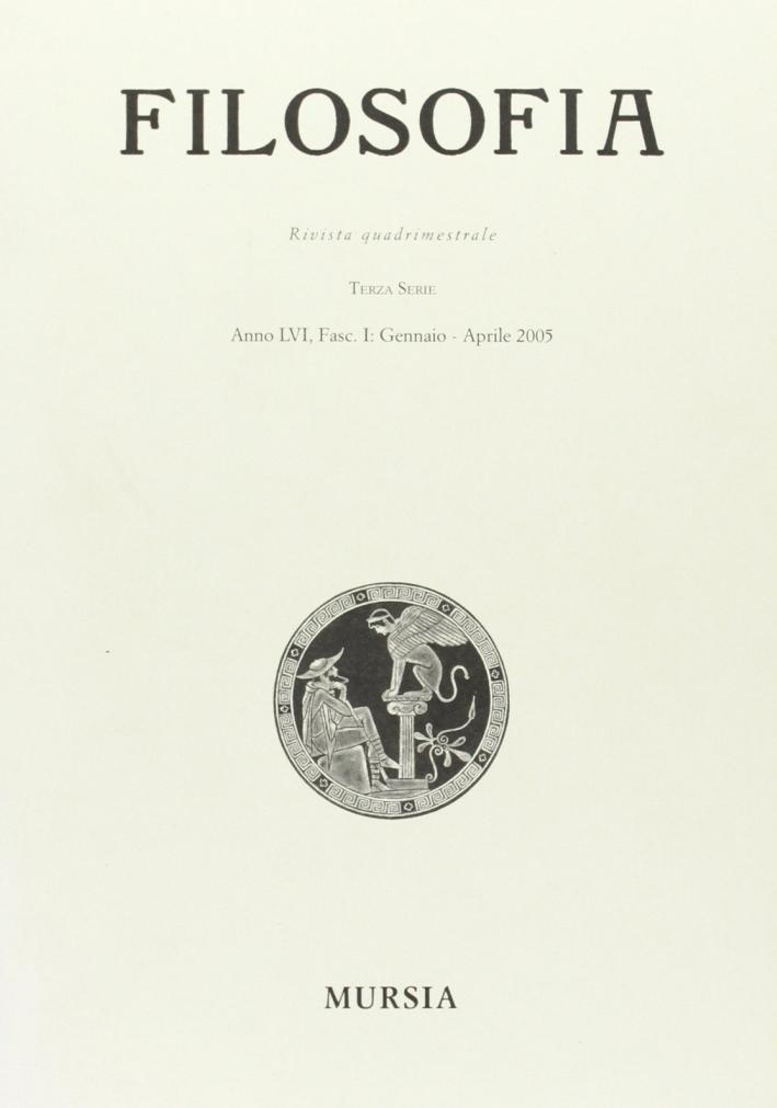 Rivista di filosofia (2005). Vol. 1