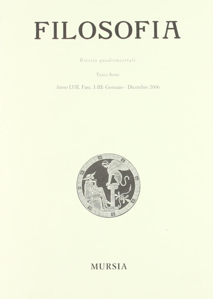 Rivista di filosofia (2006) vol. 1-3