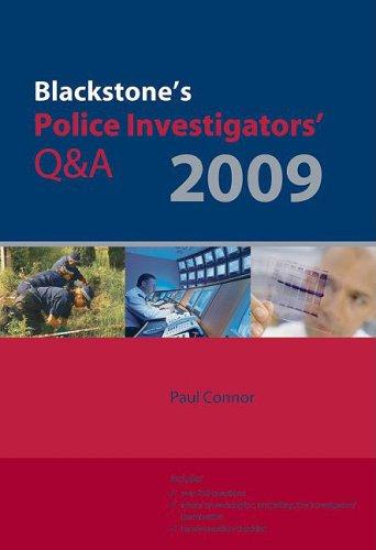 Blackstone's Police Investigators' Q&A