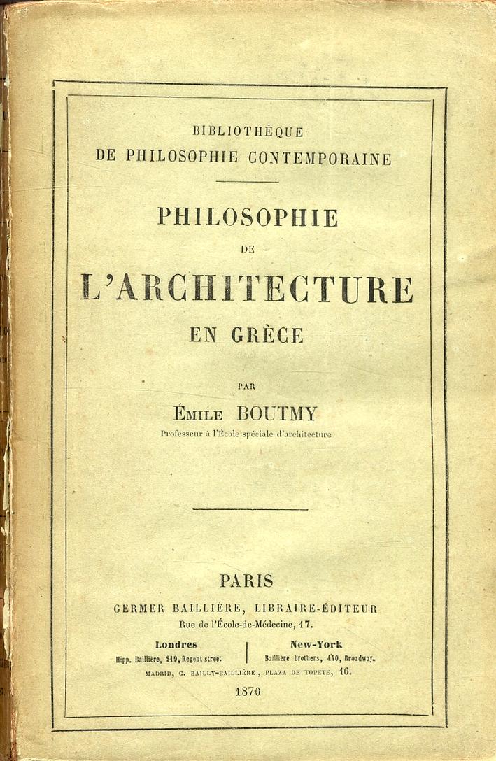 Philosophie de l'architecture en Grèce.