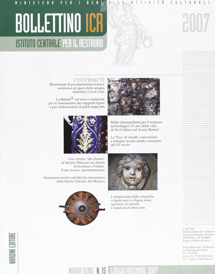 Bollettino ICR. Vol. 15