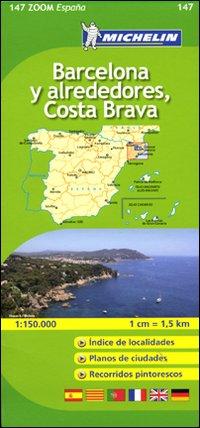 Barcellona-Costa Brava 1:150.000. Ediz. multilingue.