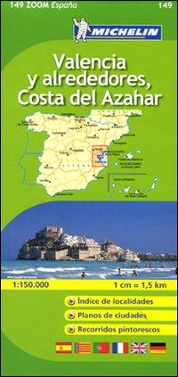 Valencia y Alrededores, Costa del Azahar 1:150.000.