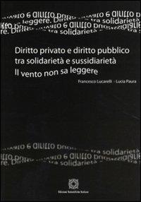 Diritto privato e diritto pubblico tra solidarietà e sussidarietà. Il vento non sa leggere