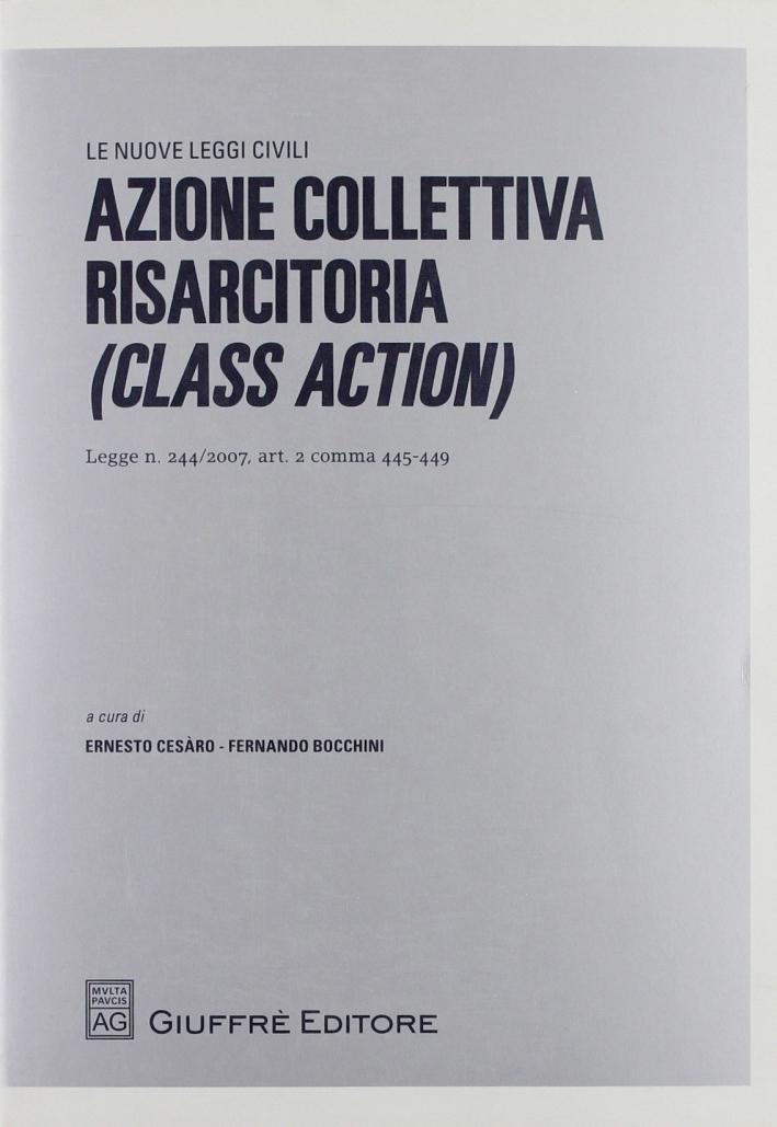 Azione collettiva risarcitoria (Class Action). Legge n. 244/2007, art. 2 comma 445-449