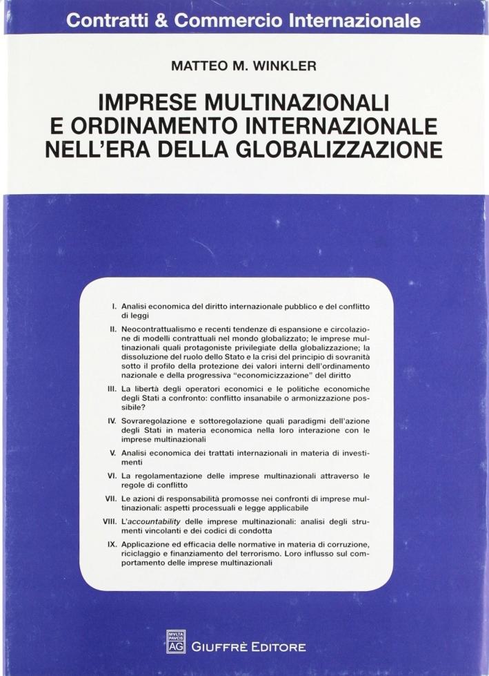 Imprese multinazionali e ordinamento internazionale nell'era della globalizzazione
