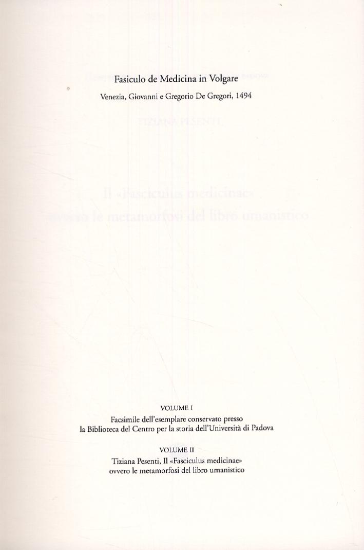 Fasciculo de Medicina in Volgare. Venezia, Giovanni e Gregorio De Gregori, 1494. [Edizione italiana e latina]