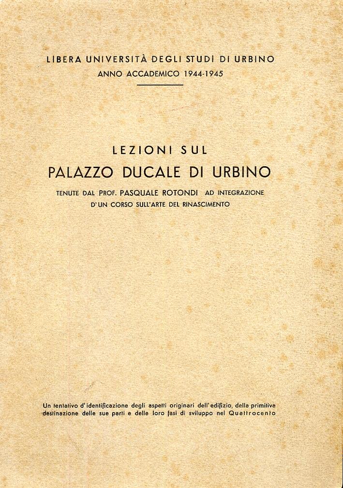 Lezioni sul palazzo ducale di Urbino