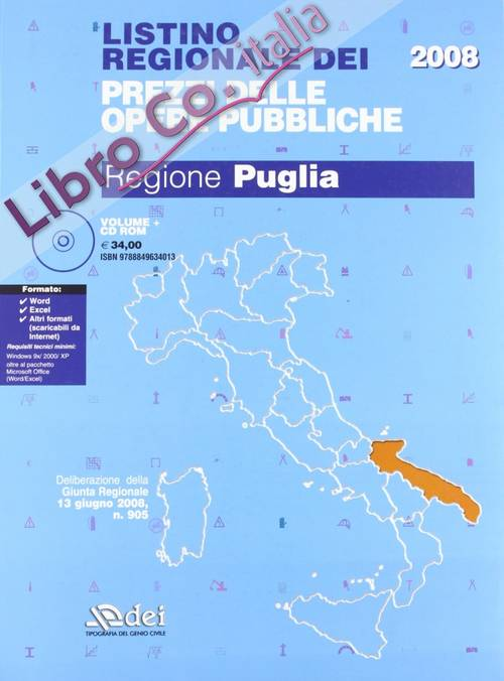 Listino regionale dei prezzi delle opere pubbliche. Regione Puglia
