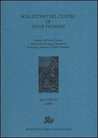 Bollettino del Centro di studi vichiani (2008). Vol. 2