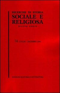 Ricerche di storia sociale e religiosa. Vol. 74