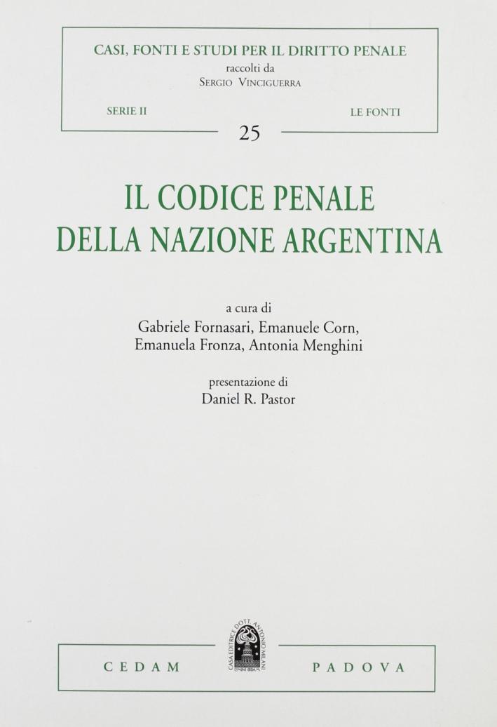 Il codice penale della nazione argentina.