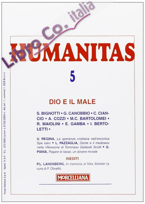 Humanitas (2008). Vol. 5: Dio e il male