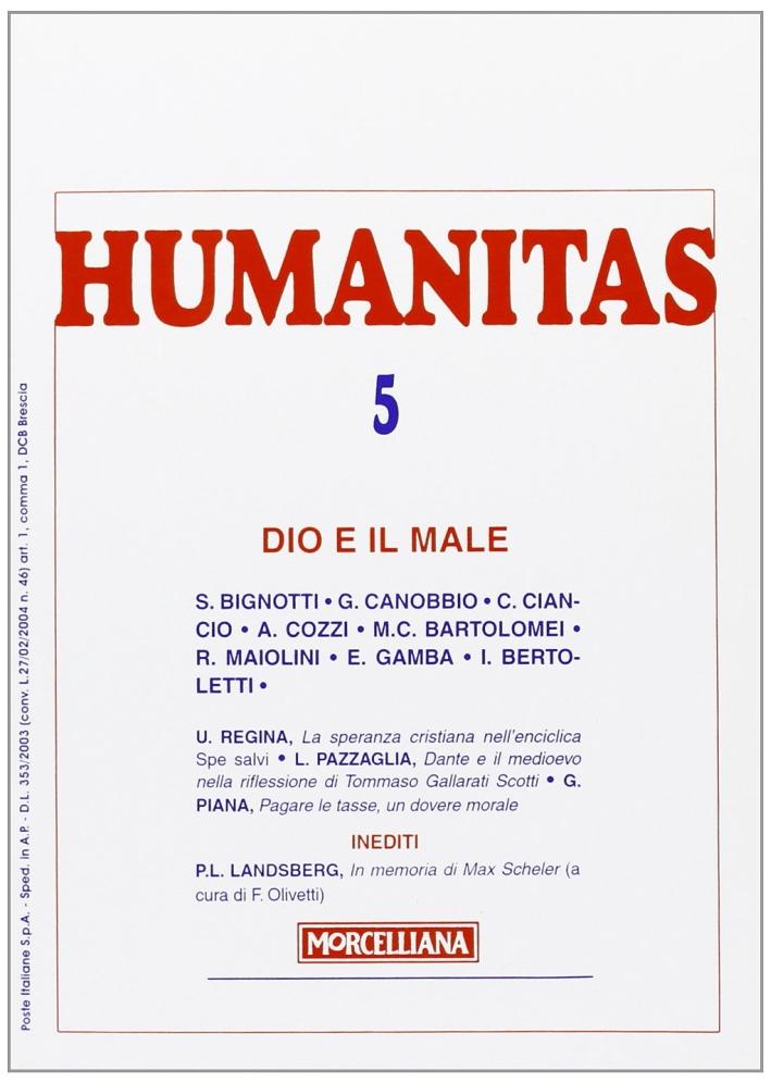 Humanitas (2008). Vol. 5: Dio e il male.