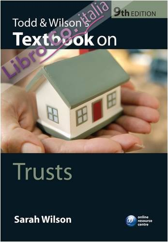 Todd and Wilson's Textbook on Trusts.
