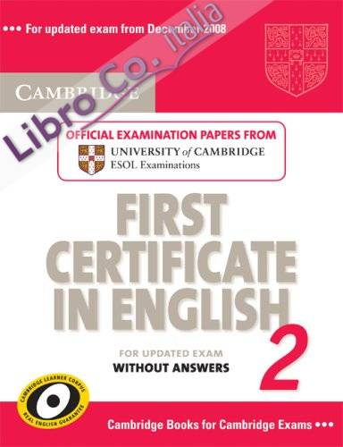 Cambridge First Certificate in English 2 for Updated Exam St.