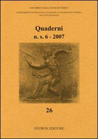 Quaderni del Dipartimento di Filologia Linguistica e Tradizione Classica (2007)