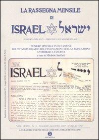Rassegna Mensile di Israel (2007). Vol. 2.