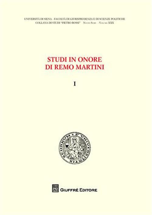 Studi in onore di Remo Martini. Vol. 1