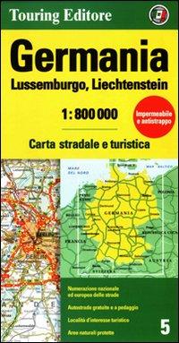 Germania, Lussemburgo, Liechtenstein 1:800.000. Carta stradale e turistica