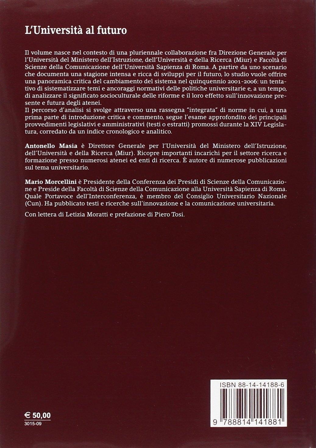 L'università al futuro. Sistema, progetto, innovazione. Con CD-ROM