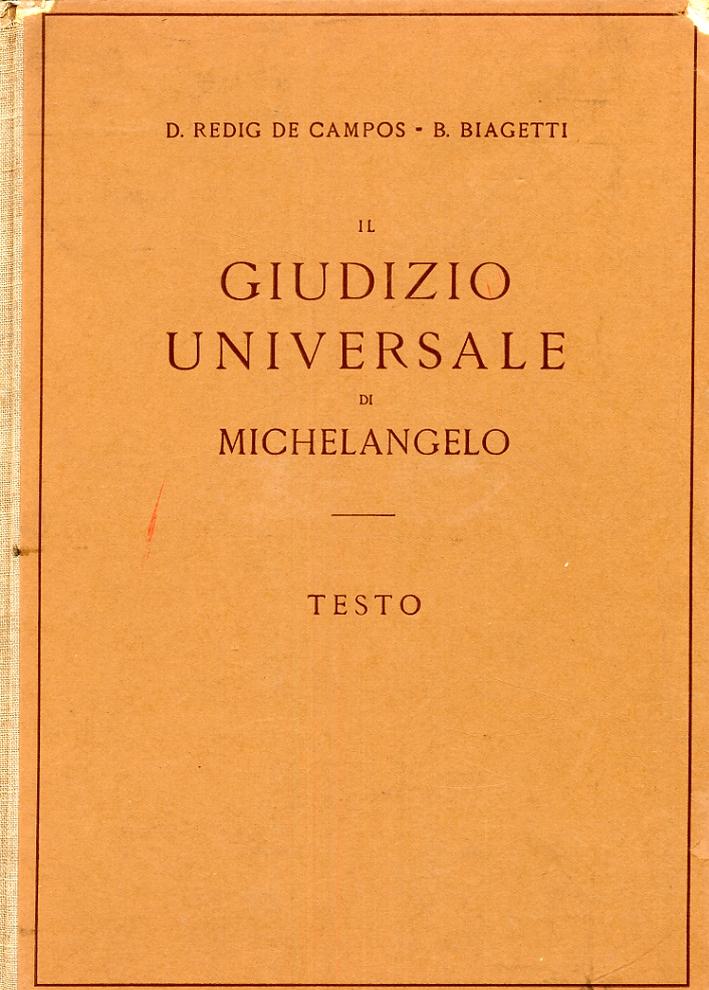 Il giudizio universale di Michelangelo. Testo