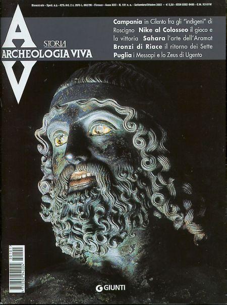 Archeologia Viva n. 101 - settembre/ottobre 2003