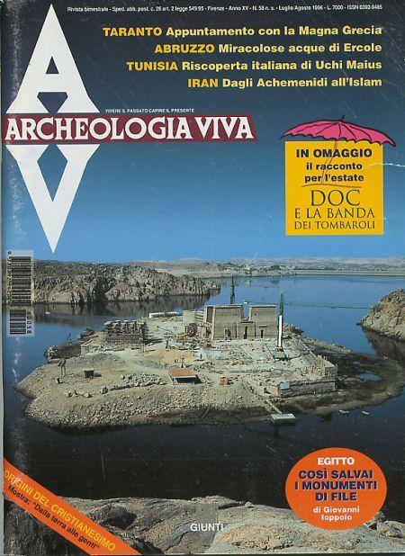 Archeologia Viva n. 58 - luglio/agosto 1996