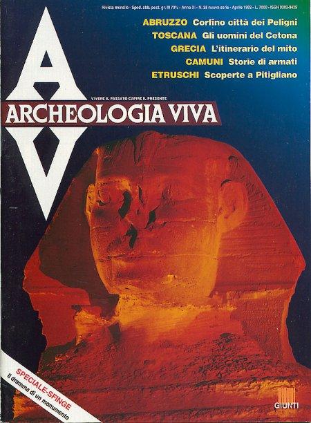 Archeologia Viva n. 28 - aprile 1992
